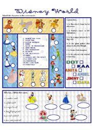 English Worksheet: DISNEY WORLD