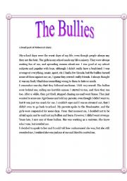 English Worksheets: The bullies