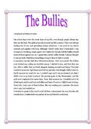 English Worksheets: The bullies