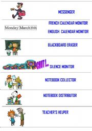 posters for responsibilities in your classroom 1/2 - 2 pages