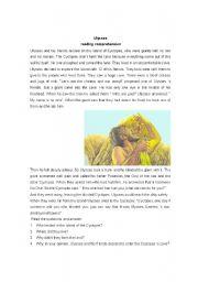 English Worksheets: Ulysses reading comprehension