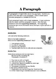 Printables Writing Paragraphs Worksheet english teaching worksheets paragraphs writing paragraphs