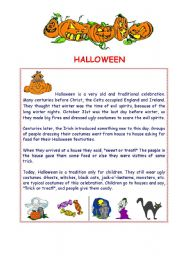 English Worksheet: Halloween - reading and activities
