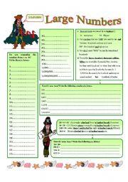 Large numbers - ESL worksheet by oppilif