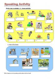 English Worksheet: Speaking activity
