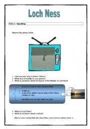 English Worksheet: Loch Ness - 4 skills
