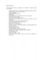 English Worksheets: ANIMAL RIGHTD