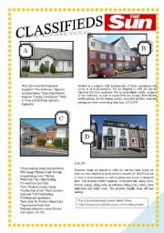 English Worksheet: CLASSIFIEDS - PROPERTY FOR SALE READING
