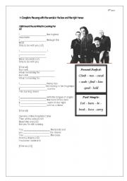 English Worksheet: U2 Song - Present Perfect and Simple Past