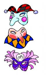 Three masks for Halloween and Carnival
