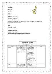 English Worksheet: Lesson Plan Lemon Tree