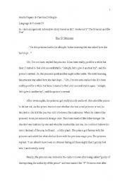 English Worksheets: The Princess & the Pea