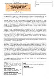 English Worksheet: FCE ARTICLE WRITING LESSON