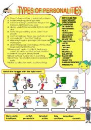 English Worksheet: Types of personalities