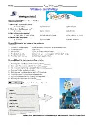 English Worksheets: Robots_video activity