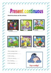 Present Continuous 2 - worksheet by Patricia