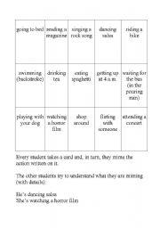 English Worksheets: Miming