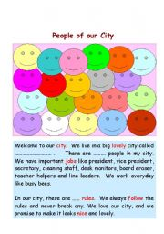 English Worksheets: Classroom Poster