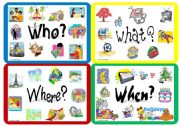 English Worksheet: Question Words: Poster and worksheet