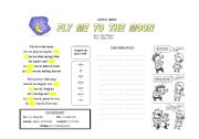English worksheet: The Werewolf & Fly me to the moon