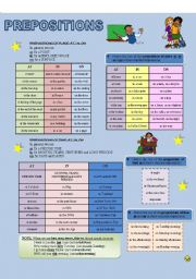 English worksheet: PREPOSITIONS - AT, IN, ON (place and time)