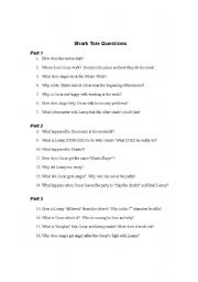 Shark Tale questions and vocab