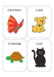 English Worksheets: ANIMAL FLASHCARDS