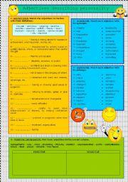 English Worksheet: adjectives describing personality