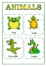 English Worksheets: FLASCARDS ANIMALS II PART