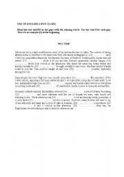 English Worksheets: Use of English Open Close FCE