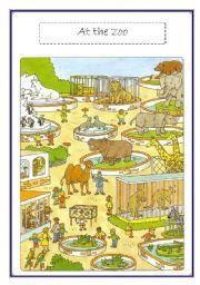 English Worksheets: zoo voc list