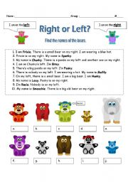 English Worksheets: Right or left?