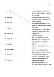 English Worksheets: Two words in one - set 7 - matching