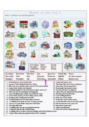 English Worksheet: Places in the city 2