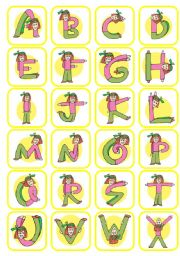 Alphabet Lady Card Games
