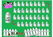 English Worksheets: Got Milk? Cow Gameboard with tokens and greyscale version included.