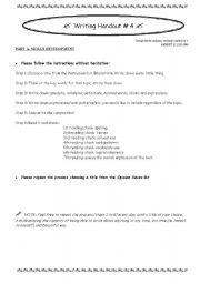 English Worksheets:  7 checkings when writing
