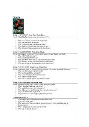 crash movie worksheet