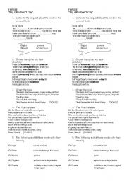 English Worksheets: Big girls don�t cry by Fergie