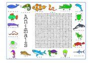 English Worksheets: Animals (1 of 4)