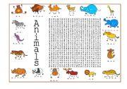 English Worksheets: Animals (3 of 4)