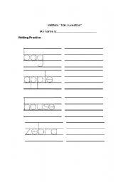 English Worksheets: practice writing