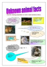 English Worksheets: Unknown animal facts