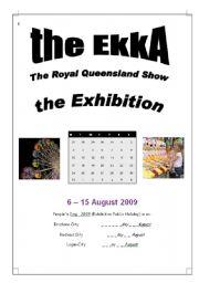English Worksheets: Brisbane Exhibition - EKKA