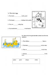 1st Grade Action Words Worksheet http://www.eslprintables.com/printable.asp?id=269673