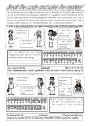 English Worksheet: 2pages Reading comprehention (Solve the mystery)