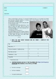 English Worksheets: About me and what I like
