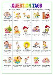 English Worksheets: tags