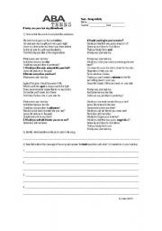 English Worksheets: If today was your last day(Nickelback)