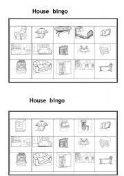 English Worksheets: House bingo
